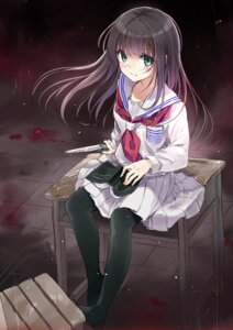 Rating: Questionable Score: 41 Tags: blood maigo pantyhose seifuku User: fairyren