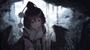 Rating: Safe Score: 36 Tags: chun_lanlanlan japanese_clothes shameimaru_aya touhou wings User: Mr_GT