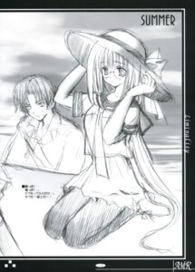 Rating: Safe Score: 7 Tags: ikegami_akane megane monochrome seifuku sketch User: syaoran-kun