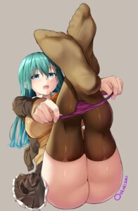 Rating: Questionable Score: 112 Tags: feet kantai_collection oekakizuki pantsu panty_pull seifuku suzuya_(kancolle) thighhighs undressing User: Mr_GT