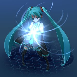 Rating: Safe Score: 15 Tags: hatsune_miku nacl thighhighs vocaloid User: anaraquelk2