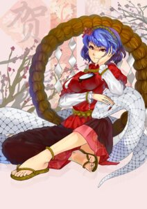 Rating: Safe Score: 9 Tags: mishaguji orangec touhou yasaka_kanako User: Mr_GT