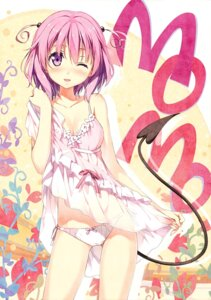 Rating: Questionable Score: 235 Tags: 5_nenme_no_houkago dress kantoku momo_velia_deviluke pantsu skirt_lift tail to_love_ru User: Hatsukoi