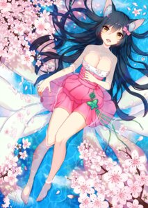Rating: Questionable Score: 85 Tags: ahri animal_ears cleavage dress feet league_of_legends tail wet whitehee93 User: fairyren