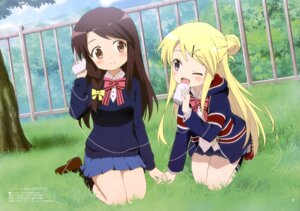 Rating: Questionable Score: 38 Tags: hello!!_kin'iro_mosaic kin'iro_mosaic kujou_karen matsubara_honoka ninomiya_souji possible_duplicate seifuku User: drop