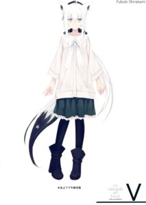 Rating: Safe Score: 19 Tags: animal_ears hololive nagishiro_mito shirakami_fubuki tail User: kiyoe
