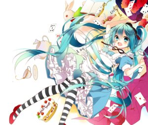 Rating: Safe Score: 44 Tags: alice alice_in_wonderland hatsune_miku naoto pantyhose vocaloid User: Radioactive