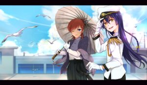 Rating: Safe Score: 15 Tags: eris.y_(7hai) love_live! nishikino_maki sonoda_umi umbrella uniform User: Radioactive