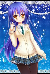 Rating: Safe Score: 41 Tags: kiyui love_live! pantyhose seifuku sonoda_umi sweater User: KazukiNanako