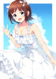 Rating: Safe Score: 17 Tags: amami_haruka cleavage dress misomiso_154 no_bra skirt_lift summer_dress the_idolm@ster the_idolm@ster_million_live! User: Arsy