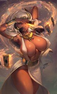 Rating: Questionable Score: 72 Tags: cleavage dress erect_nipples ishizu_ishtar no_bra nopan robutts yugioh User: Mr_GT