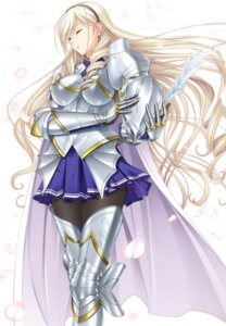 Rating: Safe Score: 64 Tags: armor celia_cumani_aintree komori_kei pantyhose thighhighs walkure_romanze User: Madao