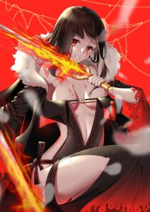 Rating: Questionable Score: 20 Tags: blood consort_yu_(fate/grand_order) fate/grand_order no_bra pantsu sword tagme User: hiroimo2