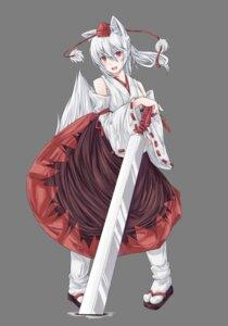 Rating: Safe Score: 13 Tags: animal_ears arcadia090 inubashiri_momiji sword tail touhou transparent_png User: charunetra
