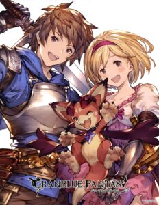 Rating: Safe Score: 39 Tags: armor b djeeta_(granblue_fantasy) dress gran_(granblue_fantasy) granblue_fantasy sword User: drop