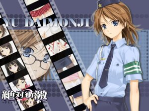 Rating: Safe Score: 14 Tags: daimonji_yuu happoubi_jin police_uniform wallpaper zettai_shougeki_platonic_heart User: horson