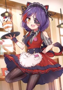 Rating: Safe Score: 37 Tags: animal_ears bada_(jksh5056) eyepatch hayasaka_mirei maid nekomimi pantyhose the_idolm@ster the_idolm@ster_cinderella_girls waitress User: Mr_GT