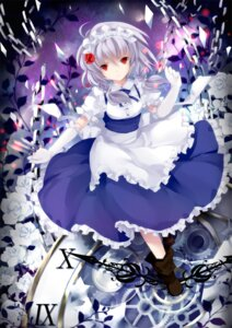 Rating: Safe Score: 21 Tags: izayoi_sakuya maid touhou wataame27 User: ddns001