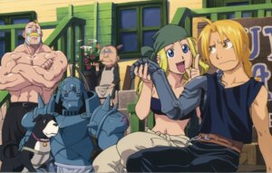 Rating: Safe Score: 11 Tags: alex_louis_armstrong armor edward_elric fullmetal_alchemist megane pinako_rockbell smoking tagme winry_rockbell User: NotRadioactiveHonest