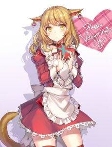 Rating: Questionable Score: 67 Tags: animal_ears dress momoko_(momopoco) tail thighhighs valentine User: blooregardo