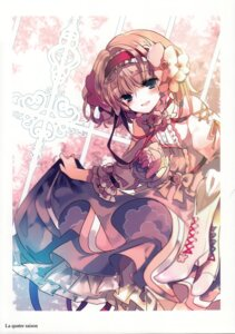 Rating: Safe Score: 29 Tags: alice_margatroid cierra_(artist) dress heels ringlet skirt_lift touhou User: fireattack