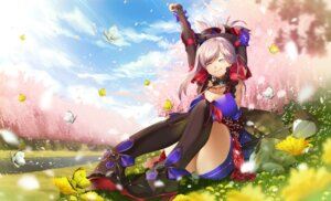 Rating: Safe Score: 25 Tags: cleavage fate/grand_order hamada_pochiwo heels japanese_clothes miyamoto_musashi_(fate/grand_order) thighhighs User: Mr_GT