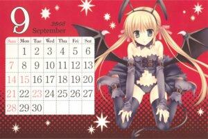 Rating: Safe Score: 14 Tags: calendar hayate_no_gotoku overfiltered sanzenin_nagi tatekawa_mako thighhighs wings wnb User: Radioactive