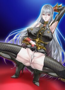 Rating: Explicit Score: 54 Tags: heels komori_kei pantsu panty_pull pantyhose pubic_hair pussy pussy_juice selvaria_bles thighhighs uniform valkyria_chronicles wet User: demonbane1349