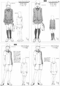 Rating: Safe Score: 3 Tags: heels rahxephon seifuku sketch yamada_akihiro User: Radioactive