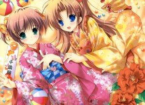 Rating: Safe Score: 41 Tags: asagiri_mai august kimono mikeou takamizawa_natsuki yoake_mae_yori_ruriiro_na User: crim
