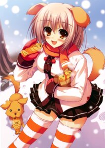 Rating: Safe Score: 43 Tags: animal_ears inumimi tail thighhighs tomose_shunsaku User: Share