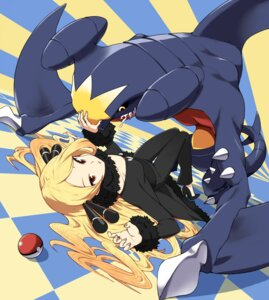 Rating: Safe Score: 35 Tags: garchomp heels pokemon pokemon_dppt shirona_(pokemon) tm_(hanamakisan) User: Mr_GT