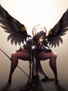 Rating: Questionable Score: 10 Tags: armor heels last_origin pantyhose tagme toriseru_(thesuperhero) wings User: popcorn1239