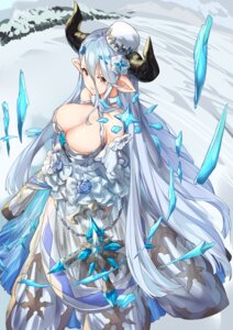 Rating: Questionable Score: 54 Tags: cleavage dress granblue_fantasy haru_ato horns izmir_(granblue_fantasy) pointy_ears User: nphuongsun93
