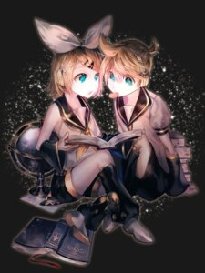 Rating: Safe Score: 34 Tags: alter_(silent_mute) headphones kagamine_len kagamine_rin seifuku vocaloid User: LolitaJoy