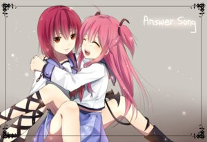 Rating: Safe Score: 19 Tags: angel_beats! iwasawa wish+ yui_(angel_beats!) User: Radioactive