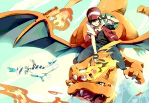 Rating: Safe Score: 45 Tags: charizard chima hibiki_(pokemon) kotone_(pokemon) lugia pikachu pokemon red_(pokemon) User: hobbito