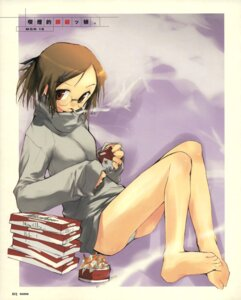 Rating: Questionable Score: 9 Tags: e=mc2 feet maple_colors megane pantsu sakanakura_yumi smoking User: korokun