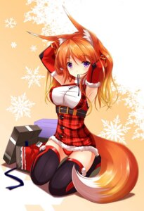 Rating: Questionable Score: 62 Tags: animal_ears fatke kitsune pantsu tail thighhighs User: 椎名深夏