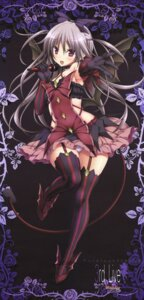 Rating: Questionable Score: 43 Tags: aoi_tori_(purple_software) dress koku mary_harker pantsu pointy_ears purple_software skirt_lift stockings tail thighhighs wings User: DDD