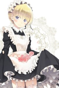 Rating: Safe Score: 35 Tags: kishuku_gakkou_no_juliet maid napou1031 nappa skirt_lift stockings thighhighs User: fairyren