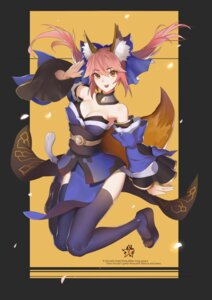 Rating: Safe Score: 18 Tags: animal_ears caster_(fate/extra) cleavage fate/extra fate/grand_order fate/stay_night japanese_clothes kitsune sunshine tail thighhighs User: JediJaina