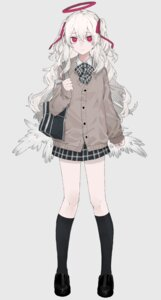 Rating: Safe Score: 27 Tags: angel kagiriba_soshi seifuku sweater wings User: charunetra