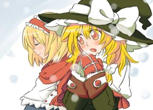 Rating: Safe Score: 4 Tags: alice_margatroid kirisame_marisa tairi touhou User: konstargirl
