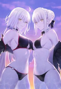 Rating: Questionable Score: 63 Tags: bikini cleavage fate/grand_order jeanne_d'arc jeanne_d'arc_(alter)_(fate) nipi27 open_shirt saber saber_alter swimsuits symmetrical_docking wet User: Genex