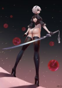 Rating: Questionable Score: 34 Tags: ass heels kezi leotard nier_automata signed sword thighhighs yorha_no.2_type_b User: Mr_GT