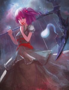 Rating: Questionable Score: 34 Tags: kimono magician_(china) onozuka_komachi touhou weapon User: sylver650