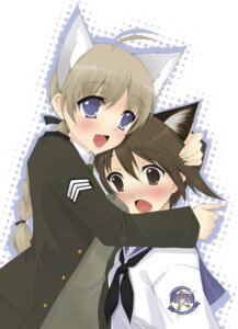 Rating: Safe Score: 7 Tags: haru_(artist) lynette_bishop miyafuji_yoshika strike_witches User: petopeto