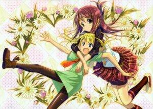 Rating: Safe Score: 14 Tags: garden hoshino_erika ozaki_hiroki pantyhose suzumura_azami User: Kalafina