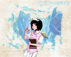 Rating: Safe Score: 11 Tags: angel nakahara_misaki nhk_ni_youkoso nurse ooiwa_kenzi wallpaper wings User: boon